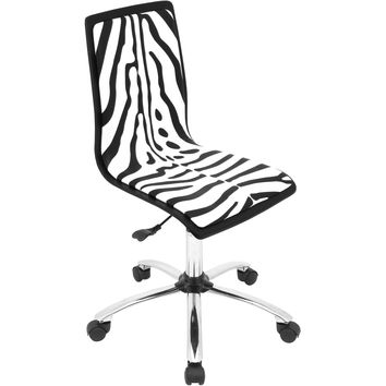 Printed Office Chair, Zebra