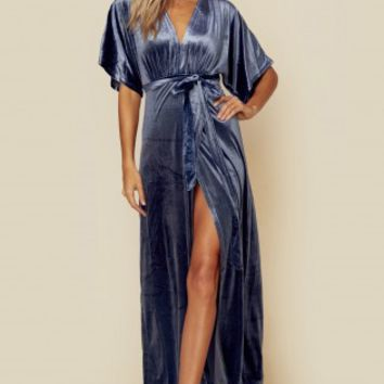 DREAMER VELVET WRAP DRESS