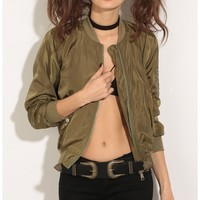 Jackets/Vests > Classic Bomber Jacket In Olive