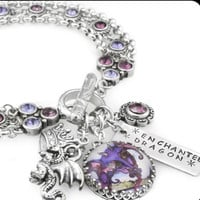 Enchanted Dragon Charm Bracelet