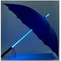 LED Light Umbrella - Purple with Blue Lighted Rod: Everything Else