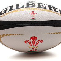 Gilbert Wales Alternate Official Replica Rugby Ball White/Black Rugby Balls, £19.99