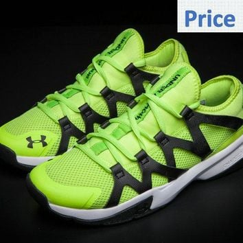 2018 Authentic UA Under Armour Charged Phenom 2 Run Shoes 2017 Barely Volt Ghost Green shoes