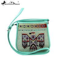 Montana West Turquoise Thunderbird Messenger Bag MW311-8287