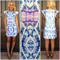 Frozen In Time Cutout Dress - LAVENDER & MINT