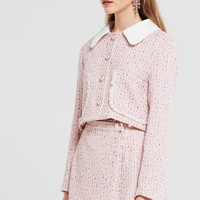Joan Cropped Tweed Jacket Discover the latest fashion trends online at storets.com