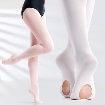 3856a4247c2c9 Professional Kids Children Girls Soft Microfiber Convertible Ballet Dance  Tights 60D 3 Pairs