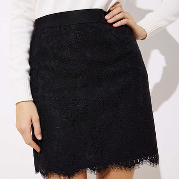 Petite Scalloped Lace Skirt | LOFT
