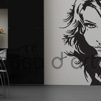 Silhouettes - Girl Face - Wall Decals , Home Art and Car Stickers