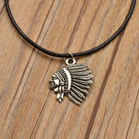 jewelry antique silver plated moon sun mix design pendant necklace (include chain link) gift for  girl N1734