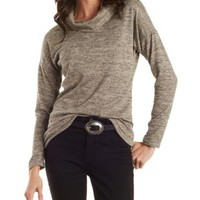 Gray Cowl Neck Tunic by Charlotte Russe
