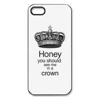 Pandora icon Honey You Should See Me In A Crown Loki Cool Unique Design iPhone 5 5S Case Protecter