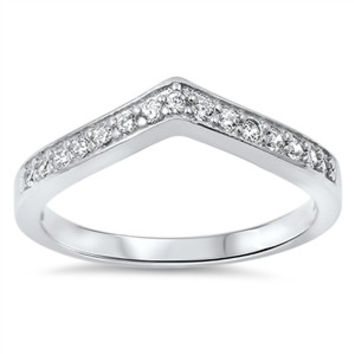 925 Sterling Silver CZ Simulated Diamond Tiara Ring 5MM