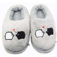 2016 New Safe and Reliable Plush USB Foot Warmer Shoes Soft Electric Heating Slipper Cute Rabbits Pink