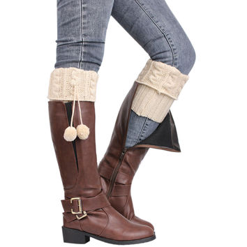 Women Crochet Knitted Stocking Footless Leg Warmers Boot 5 Colors New Boot Cover Elastic Thigh High Cuffs Leg Warmers SN9