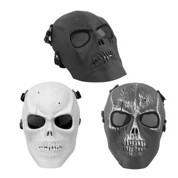 Super Cool Skull Skeleton Mask Cycling Mask Airsoft Full Face Protection Mask Shot Helmets With Eye Shield