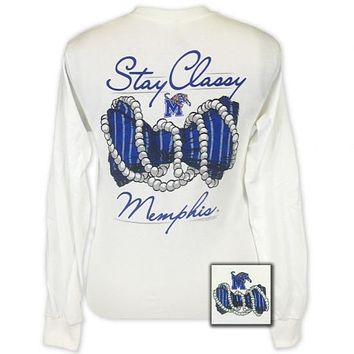 Memphis Tigers Stay Classy Pearls Long Sleeves T-Shirt