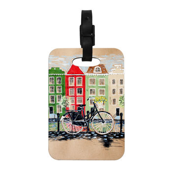 "Christen Treat ""Bicycle"" Decorative Luggage Tag"