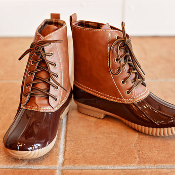 Jango Duck Boot Brown