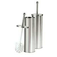 "Satin Finish Stainless Steel Toilet Brush Holder (4""x 12"")"