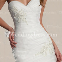 Wedding Gown with Lace Appliques