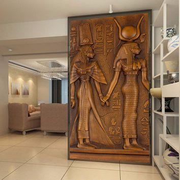 Ancient Egyptian Pharaoh Entrance Corridor Mural Wallpaper Custom Modern Art Wall Painting For Living Room 3D Papel De Parede 3D