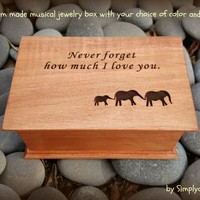 music box, customized music box, jewelry box, elephant, gift for daughter, personalized music box, graduation gift, valentines day gift