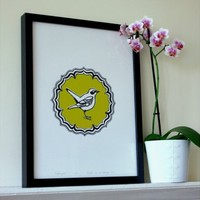 Nightingale Print | Folly Home | Design-led Gifts, Home wares, Vintage Finds