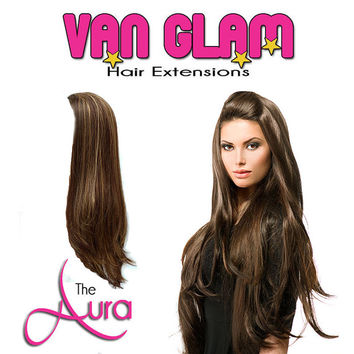 """Crown Clip In Hair Extensions 24"""" High Quality Cuticle Remy Human Hair"""