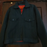 Vintage 1970s Green Mens  universal overall chicago work jacket sz med