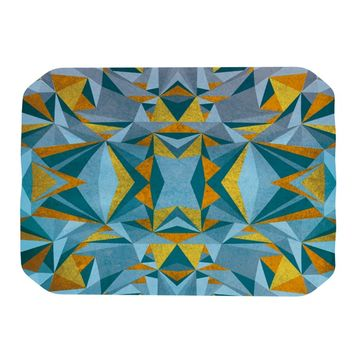 "Nika Martinez ""Abstraction Blue & Gold"" Place Mat"