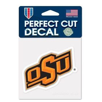 "Licensed Oklahoma State Cowboys Official NCAA 4"" x Automotive Car Decal 4x4 by Wincraft KO_19_1"