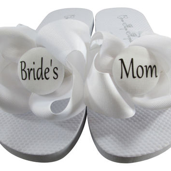 Design your Own Bride's Mom Wedding Flip Flop Sandals