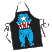 Creative Fashion Apron Cartoon Comic Captain America Apron = 1946593156
