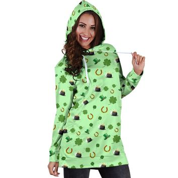 St Patricks Day Womens Hoodie Dress Style 1