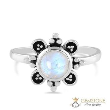 Moonstone Ring-Antique Image