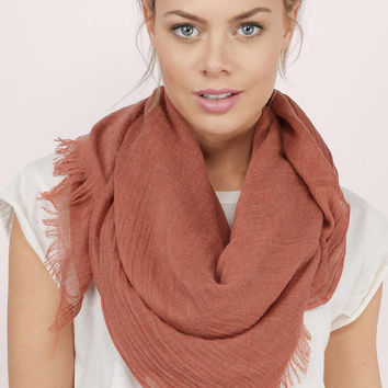 Daydreamer Wide Frayed Scarf