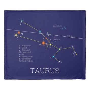 Constellation TAURUS unique, elegant Duvet Cover
