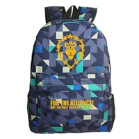 Free Shipping Backpack WOW For The Horde World Of Warcraft Backpacks School Bags For Teenagers