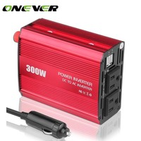 Onever 300W Car Power Inverter Converter DC 12V to AC 110V Dual Outlets Modified Sine Wave Power with Dual USB 5V/2.1A Output