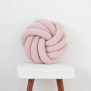 Pink Knotted Pillow Kids Baby Decorative Cushion