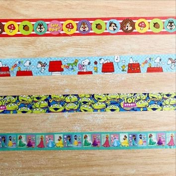 Free shipping Lovely  15mm*5m  masking  washi  tape/Beautiful Animal and Dog and Big mouth and Princess  masking washi tape