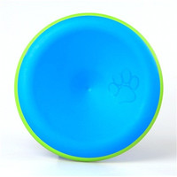 Pet Dog Puppy Chew Throwing Training Disk Frisbee Toy (Blue)