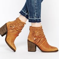 Free People Carrera Lattice Leather Heeled Boots