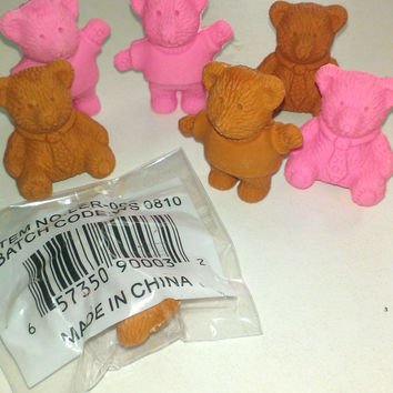 closeout teddy bear fun eraser bonanza Case of 1152