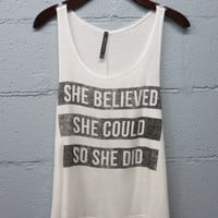 She Believed Graphic Tee