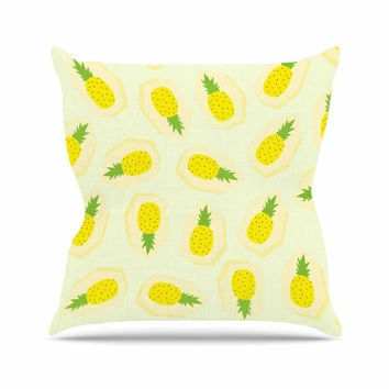 "Strawberringo ""Pineapple Pattern"" Yellow Fruit Throw Pillow"