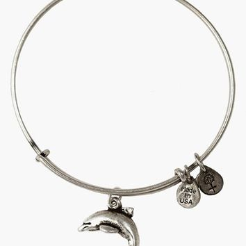 Women's Alex and Ani Dolphin Charm Bangle