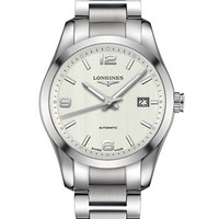 Longines Mens Conquest Classic Stainless Steel Bracelet Watch