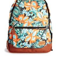 ASOS Backpack in Hibiscus Print